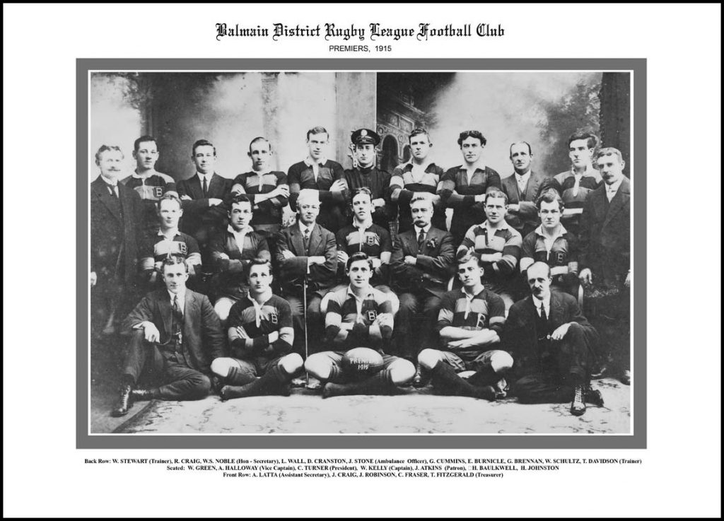 Best NRL Teams All Time Balmain 1915